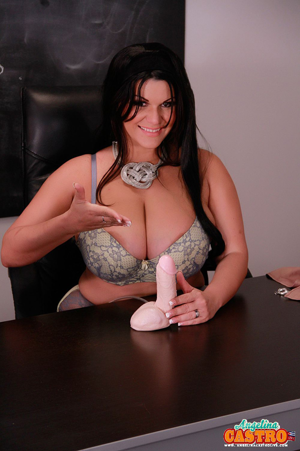 image Cuban export angelina castro rubs her vibrator to wet orgasm